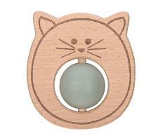de silicona de madera L/ässig mordedor para beb/é sin sustancias nocivas Little Chums Little Chums Cat para jugar con la motricidad de los dientes//anillo de t/é