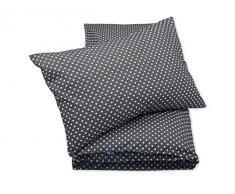 Pepi Leti 685843715719 - Juego de cama infantil, diseño de corazones, color gris