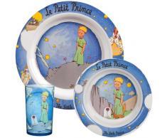 Unitedlabels AG 0119231 Trudeau - Set infantil de desayuno (melamina, 3 unidades), diseño de El Pequeño Príncipe
