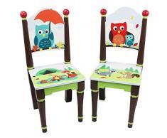 Juego de sillas de madera Enchanted Woodland Fantasy Fields (sin mesa) TD-11740A