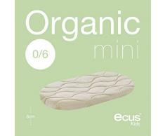 Ecus Kids, colchón de cuna capazo organico - Organic Mini, 72x33x6