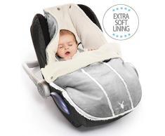Wallaboo Manta para bebé, Es ideal para Sillas de coche, para cochecitos de bebé- de 0 a 12 meses - resistente al viento y al agua - grupo 0 - muy práctica y Ultra Suave, 85 x 50 cm - color: plateado