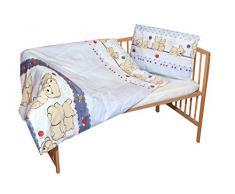 cosing 332 - 019 - 147 Juego de ropa de cama infantil algodón 2 piezas - Dos osos, Gris