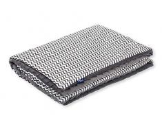 Pepi Leti 685843716976 - Manta infantil (100 x 75 cm), diseño de zigzag, color gris