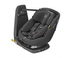 Maxi-Cosi Axissfix Plus Silla de coche giratoria 360° isofix, Silla auto reclinable y contramarcha, con reductor bebé recién nacido, 0 meses- 4 años, color authentic Black