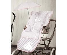 Babyline Summer - Colchoneta para silla de paseo, color rosa