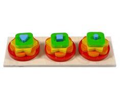 Hess 14892 - Juguete de madera (pilas, set de ordenar)