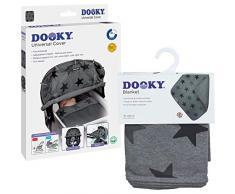 Original Dooky 3126203 Combi Pack Cover & Manta en Grey Stars Diseño Universal Protección Solar Protección contra la intemperie Set para portabebés, cochecito y silla de paseo, Gris, 800 g