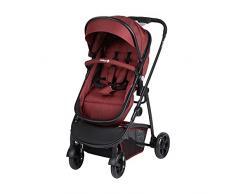 Safety 1st Hello 2 en 1 Silla de Paseo Convertible en Capazo, Silla reversible y reclinable, plegable compacto, Carrito bebé 0-3,5 años, burbuja de lluvia, Red Chic