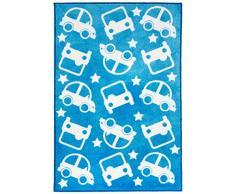 Kit for Kids MAT9005 - Tapete de decoración, 100 x 150 cm, color azul