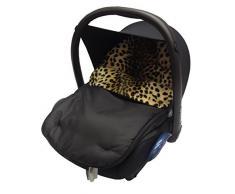 Saco cubrepiés para silla de bebé para coche, cómodo y acogedor, compatible con Hauck, estampado animal de leopardo