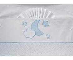 Duffi Baby 0734-12 - Sábana luna 100% algodón, 3 piezas, minicuna