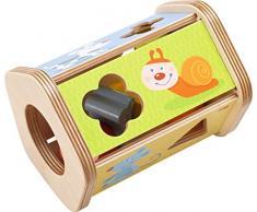 Haba 302973 – DELEX-Rollen Box ranuras Snack | parte con motivos divertidos animales y forro | juguete de madera a partir de 18 meses