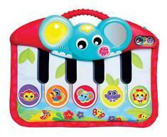 Piano versátil para usar con las manos o los pies, Fácil de fijar al cochecito o a la cuna de bebé