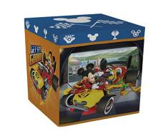 ARDITEX WD11622 - Taburete contenedor, 30 x 30 x 30 cm, diseño Mickey Mouse Roadster