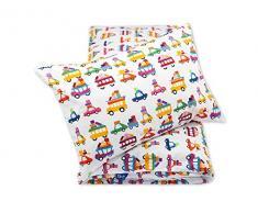 Pepi Leti 685843715597 Premium - Juego de cama infantil con diseño de cochecito de verano, multicolor