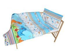 cosing 332 - 019 - 172 Juego de ropa de cama infantil algodón 2 piezas - Dino, Azul