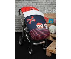 Babyline Piratas - Saco de silla de paseo, color rojo