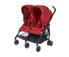 Bébé Confort DANA FOR2 Vivid Red - Silla de paseo gemelar, color rojo