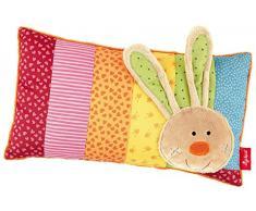 Sigikid - 40.991 - Girl and Boy - Almohada conejo - Multicolor Rainbow Rabbit - tamaño 35 x 20 cm