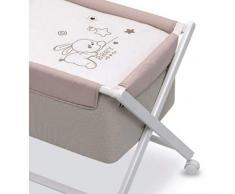 Petite stars 28222910 - Minicuna, diseño baby, color blanco y lino