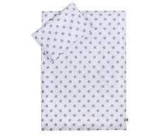 Lulando Lulando - Juego de cama infantil 2 piezas (almohada y funda nórdica) Grey Stars/White 1 Unidad 400 g