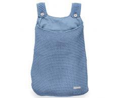 Jollein Funda nórdica y funda de almohada, bolsa de almacenamiento de punto azul pesado, bolsa de almacenamiento de punto pesado, de color azul
