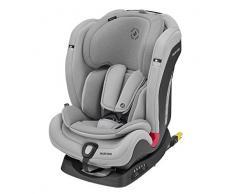 Maxi-Cosi Titan Plus Silla coche bebé grupo 1 2 3 isofix, 9-36 kg, auto bebé reclinable con reductor y Clima Flow para el control de la temperatura, crece con el niño 9 meses - 12 años, color Gris