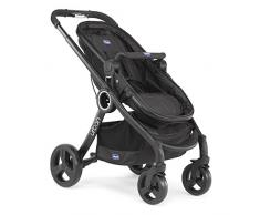 Chicco Urban Plus - Carrito transformable en capazo y silla de paseo, 7,6 kg, color negro