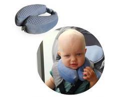 ROLLERSY PILL-S-DB - Almohada de viaje para bebé (sujeción mediante imanes, 1-2 años), color azul