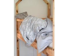 Manostiles - Ropa de cama infantil, diseño danés, algodón orgánico, color gris