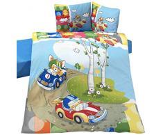 Home De Bleu 100000141030 - Juego de funda de almohada y funda de edredón para cama infantil (100 x 135 cm)