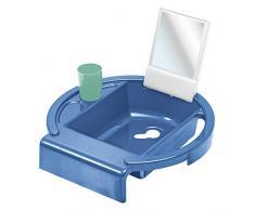 Rotho Babydesign Lavabo infantil Kiddy Wash, Para fijar en el borde de la bañera, 38,7 x 38,2 x 10 cm, Cool Blue (Azul),20034 0315 01