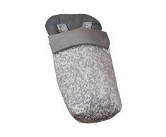 Saco de Bebé Universal Silla Polar Interior + Manoplas de Regalo a juego!+ 2 Cubre Arnés de Regalo a juego! desmontable, tejido trasero 3D, repele el agua (Game Gris)