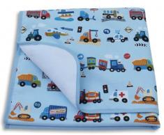 Ideenreich 2135 - Manta de bebé (70 x 90 cm, con diseño de coches)