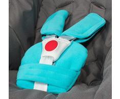 Juego de cinturón acolchado ByBoom, universal para portabebés, buggy, cochecito, asiento del coche azul turquesa