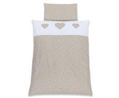 Babybay cama infantil Pique, color azul claro puntos blanco applikation Corazón weiß Applikation Herz
