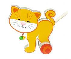 Hess 14450 - Juguete de madera montando (maullido) diseño gato