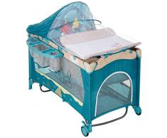 Milly Mally 1957 Viaje Mirage Deluxe Cama Infantil, color azul