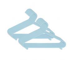 Bieco perchas muchos colores 8 16 32 unidades niños Baby perchas Baby perchas de plástico colgadores pantalones barra para almacenamiento para armario Longitud 29,5 cm, azul Azul hielo. Talla:16 Stück