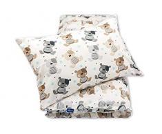 Pepi Leti 685843715382 - Juego de cama infantil, diseño de ositos de peluche, multicolor
