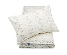 Pepi Leti 685843715788 - Juego de cama infantil, diseño de nubes de pájaros, multicolor