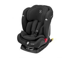 Maxi-Cosi Titan Plus Silla coche bebé grupo 1 2 3 isofix, 9-36 kg, auto bebé reclinable con reductor y Clima Flow para el control de la temperatura, crece con el niño 9 meses - 12 años, color Graphite
