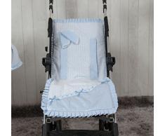 Babyline Love - Colchoneta ligera para silla de paseo, color azul