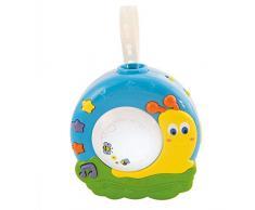 Bieco 11022590 - Luz nocturna y proyector para bebés y niños pequeños (música relajante, con proyectos), diseño de caracol, color azul