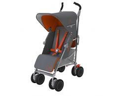 Maclaren Techno XT - Silla de paseo, color Charcoal / naranja