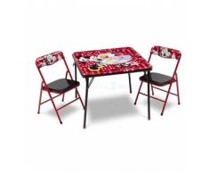MINNIE MOUSE CONJUNTO DE MESA Y SILLAS