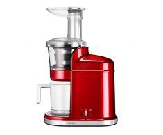 KitchenAid 5KVJ0111ECA - Exprimidor eléctrico, 80 RPM, 250 W, color rojo