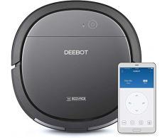 Ecovacs Deebot OZMO Slim10 - Robot Aspirador 4 en 1: barre, aspira, pasa mopa y friega, navegación inteligente, control por App, Wifi, 4 modos de limpieza, diseño ultrafino, suelo duro, gris