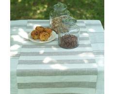 1 unidad. Camino de mesa Philippe de lino. Color gris. LinenMe 50 x 131 cm.